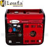 2kVA Semi закрытый малошумный тепловозный генератор Genset для фабрики