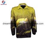 Длинние втулки удя рубашки рыболовства турнира печатание сублимации одеяния изготовленный на заказ