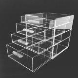 2018引出しを持つ簡単な設計されていたアクリルの明確な立方体の構成のオルガナイザー