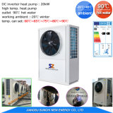 Pompa termica a temperatura elevata del riscaldatore di acqua del salone di bellezza della presa 90c di ripristino di cascami di calore 3HP 5HP 10HP R134A+R410A