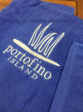 Colore solido del tovagliolo del cotone dell'hotel con il marchio ricamato