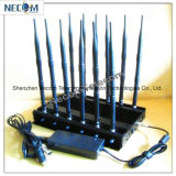 All Cellphone, Remote Control, VHF/UHF Radio Jammer/Blocker with 12 Antennas Jammer, Cellphone Signal Jammer (CDMA/GSM/DCS/PHS/3G) Cellphone GPS Signal Blockers