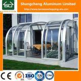 Modern Polycarbonaat die Sunroom met Glas Temperrd met Lage Kosten glijden