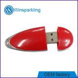 Azionamento popolare di plastica rosso dell'istantaneo del USB di figura di goccia