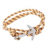 方法ナイロン海事ロープの女性の人のブレスレットの宝石類のアンカーブレスレット