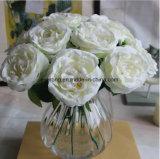 Jaune artificiel de haute qualité pivoine Fleurs Fleurs de faux mariage de gros fournisseur de fleurs de pivoines artificiel Fleur artificielle