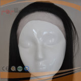 El Color Natural brasileño Virgen completo delantero cabello peluca Lace-L-01755 (PPG)