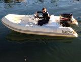 Barco inflable rígido del barco 380 de la costilla de Liya con el motor externo