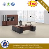 Mahogany стол офиса таблицы драпирования кожи цвета верхний лоснистый (HX-G0195)