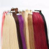 Nastro di trama della pelle dei capelli del Virgin del brasiliano di colore 60 nelle estensioni dei capelli umani