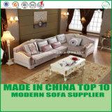 現代的な居間の標準的な革ソファー