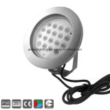 lampada subacquea di 54W IP68 DC24V LED, indicatore luminoso della fontana