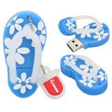 A flor de venda superior dos desenhos animados calç deslizadores da vara da memória Flash do USB 2.0