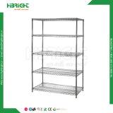 Armario rack de almacenamiento de las unidades de ajuste de estantes de alambre cromado