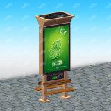 Rectángulo ligero publicitario solar de Mupi del diseño popular