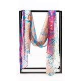 Longue soie de Madame Silk Chiffon Custom Print de mode