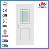 Puerta de cristal de madera impermeable interior blanca de Bethroom (JHK-G34)