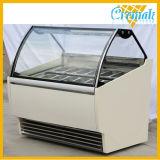 Congelatore della vetrina della visualizzazione di Gelato/della vetrina gelato/vetrina italiana del gelato