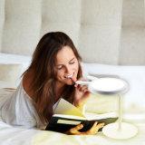 Modernes LED-Tisch-Lampen-helles warmes Weiß mit Verfassungs-Spiegel für Frauen