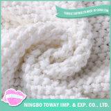De kabel breit Katoen werpt de Dekking van het Kussen van het Geval van het Hoofdkussen voor de Stoel van de Laag van het Bed