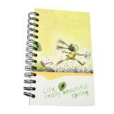 顧客用学校の事務用品の文房具の螺線形の練習のノート