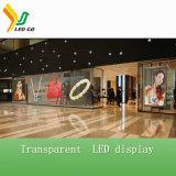 Visualizzazione di vetro trasparente dell'interno di P7.8*10.4 LED per fare pubblicità