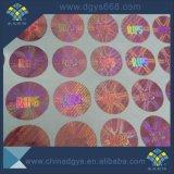 Kundenspezifische einfache zerstören einen Zeit-Gebrauch-Rosa-Laser-Hologramm-Aufkleber-Kennsatz