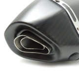 Silenziatore pieno di esagono del carbonio di rivestimento del Matt delle parti del sistema di scarico del motociclo Fcmun189