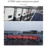 パキスタンの市場のための215W黒いモノラル結晶の太陽電池パネル