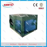 Condicionador de ar da barraca com o duto e as rodas redondos de ar