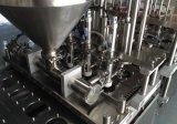 Enchimento do copo e máquina giratórios conduzidos servo automáticos da selagem