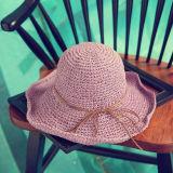 熱い販売の卸売のペーパーソフト帽の麦わら帽子浜