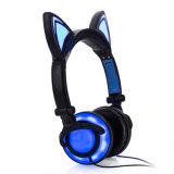 Form-Tendenz-neues Produkt-glühende Katze-Ohr-Kopfhörer mit Farben-Kasten
