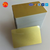 Carte vierge imprimable à puce de PVC FM1108 d'IDENTIFICATION RF avec de l'or en soie