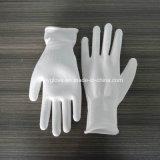 Белой перчатки работы PU покрынные ладонью/перчатки руки безопасности