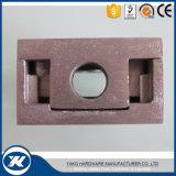 Abrazadera de cristal cuadrada del pasamano del acero inoxidable de la dimensión de una variable