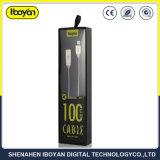 Liga de zinco 25cm Mola metálica Celular Cabo de dados USB para a Samsung