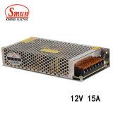 Alimentazione elettrica di Smun S-180-12 12V 15A 180W per la strumentazione di CC