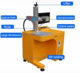Laser de fibra Mopa marca de cor a máquina em aço inoxidável
