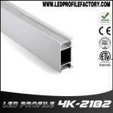 4K-2182 LED 지구는 알루미늄 단면도 점화 유포자 주거 채널 내밀었다