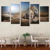 HDは動物のライオンのグループの絵画キャンバスの版画室の装飾プリントポスター映像のキャンバスの自由な出荷を印刷した