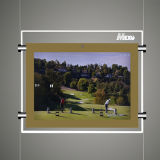 rectángulo ligero video con el capítulo de acrílico y el jugador del LCD