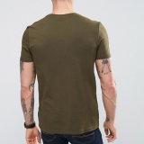 95% coton 5% élasthanne vert olive Vierge hommes T-Shirt de l'armée