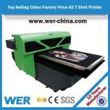 T-shirt venda quente Impressora A2 4880 com bom efeito de impressão