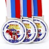 Medalla de encargo del metal de la concesión 3D del levantamiento de pesas