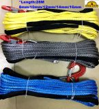 Amarillo Azul Gris 6.5tonnes malacate cuerda de nylon 10mmx28m