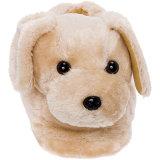 Заполненные тапочки собаки золотистого Retriever игрушки