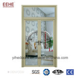 Дверь стекла алюминиевого окна новых изображений и листьев двери двойная