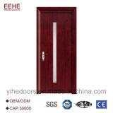 Projeto de madeira interior da porta com vidro