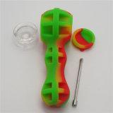 Mezcla de silicona de alta calidad Color Pipas con recipiente de vidrio y DAB Herramienta que se incluye los tubos de tabaco